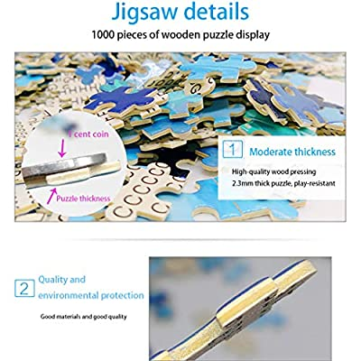 1000 Pieces 3D Jigsaw Puzzles of Landscape, Advanced Players' Puzzles Toy,Best Family Interactive Games,Difficult Jigsaw Puzzles for Beginner, Brain Teaser Toy for Kids and Adults (Fish And Water): Toys & Games
