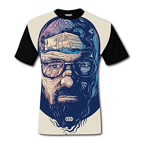 SDZ-T T-Shirts Eyeglasses Funny 3D Printed Short Sleeve For Men - Printed Eyeglasses 3d