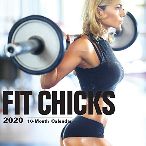 2020 Fit Chicks Wall Calendar by Bright Day, 16 Month 12 x 12 Inch, Hot Sexy Pinup Girls Gym Working Out Babe