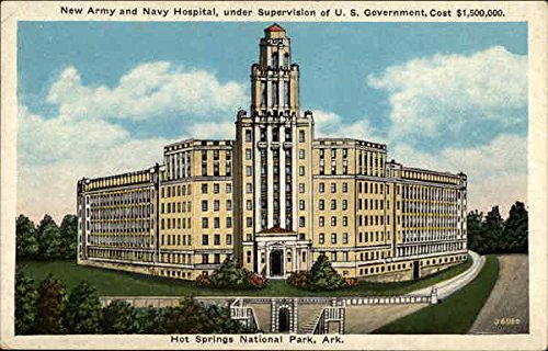 New Army and Navy Hospital Hot Springs, Arkansas Original Vintage Postcard