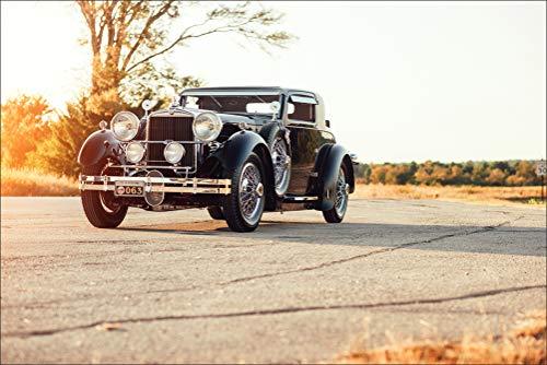 (Innerwallz Retro 1930 Stutz Model MA Supercharged Coupe by Lancefield Black Metallic Wall Art, Pop Art, Poster, Art Prints | Rare Posters)