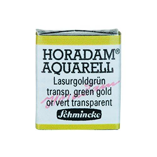 Schmincke Horadam Artists Watercolours - Transparent Green Gold - Half Pan - (Series 3) (537) HP537-S3