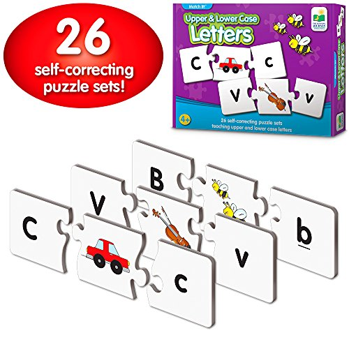 The Learning Journey: Match It! - Upper & Lower Case Letters - Self-Correcting Alphabet Matching Puzzle ()