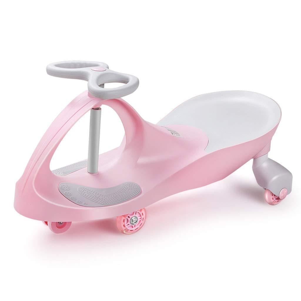 Kinder Twist Auto Universal Rad Yo Auto 1-3-6 Jahre Alt Silent Wheel Swing Auto Baby Spielzeug Roller Xuan - worth having (Farbe   Rosa) Rosa