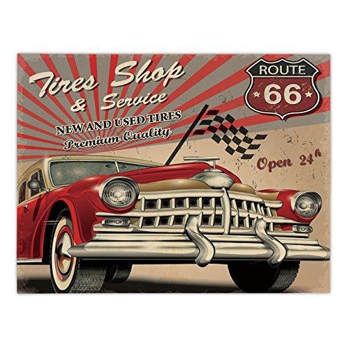 Rectangular Satin Tablecloth,Cars,Tires Shop and Service Rou
