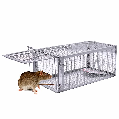 Rat Trap, 1 Door Humane Live Animal Mouse Cage Traps for Small Rodent Animals, 10.6 X 5.63 X 4.33 Inches ()