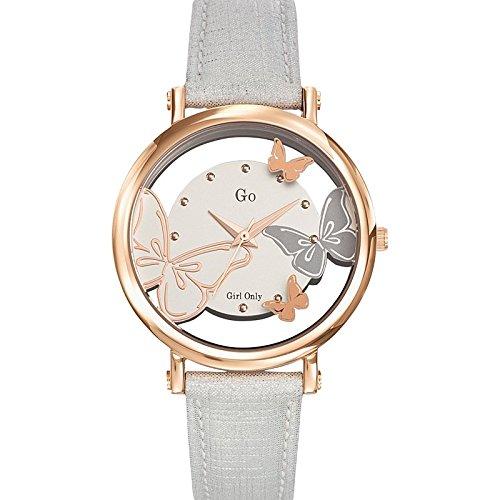 Go girl only 698656 - Reloj de pulsera mujer, piel, color plateado: Amazon.es: Relojes