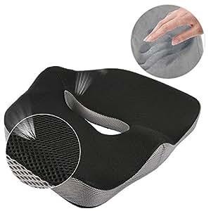 comfort memory foam seat cushion car seat cushion chair cushion sciatica cushion. Black Bedroom Furniture Sets. Home Design Ideas