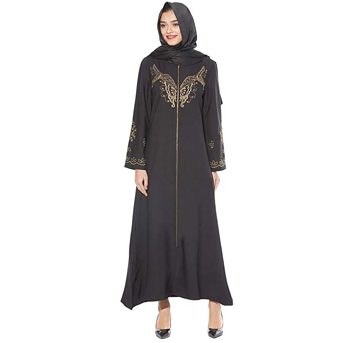 Amazon.com: FAPIZI - Vestido largo bordado para mujer ...