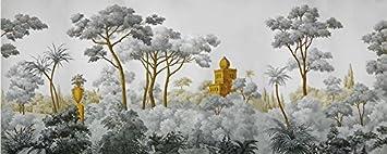 Lqwx Personalizzare Lo Sfondo Per Pareti 3 D Stereoscopica In Mano Dipinti Medievali Europee Western 3d Foto Pitture Murali Wallpaper 120cmx100cm Amazon It Fai Da Te
