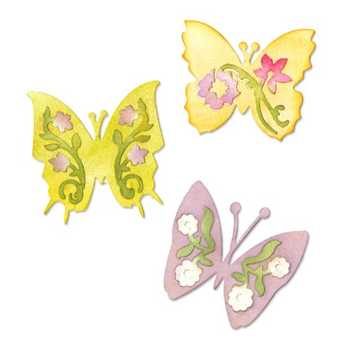(Sizzix Sizzlits Die Set 3PK - Butterfly Set #3 by Scrappy Cat)