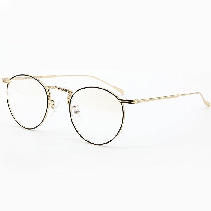 188546b5a1 Sunbrave Full Frames Retro Round Vintage Optical Titanium Eyeglasses Frame  For Men Prescription Eyewear Frame Fashion