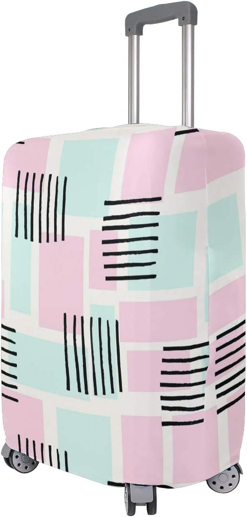 Abstract Hand Drawn Geometric Traveler Lightweight Rotating Luggage Protector Case Can Carry With You Can Expand Travel Bag Trolley Rolling Luggage Protector Case