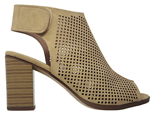 Straps Heel Classified Roadway Nb Beige Ankle Women's City dTXqII