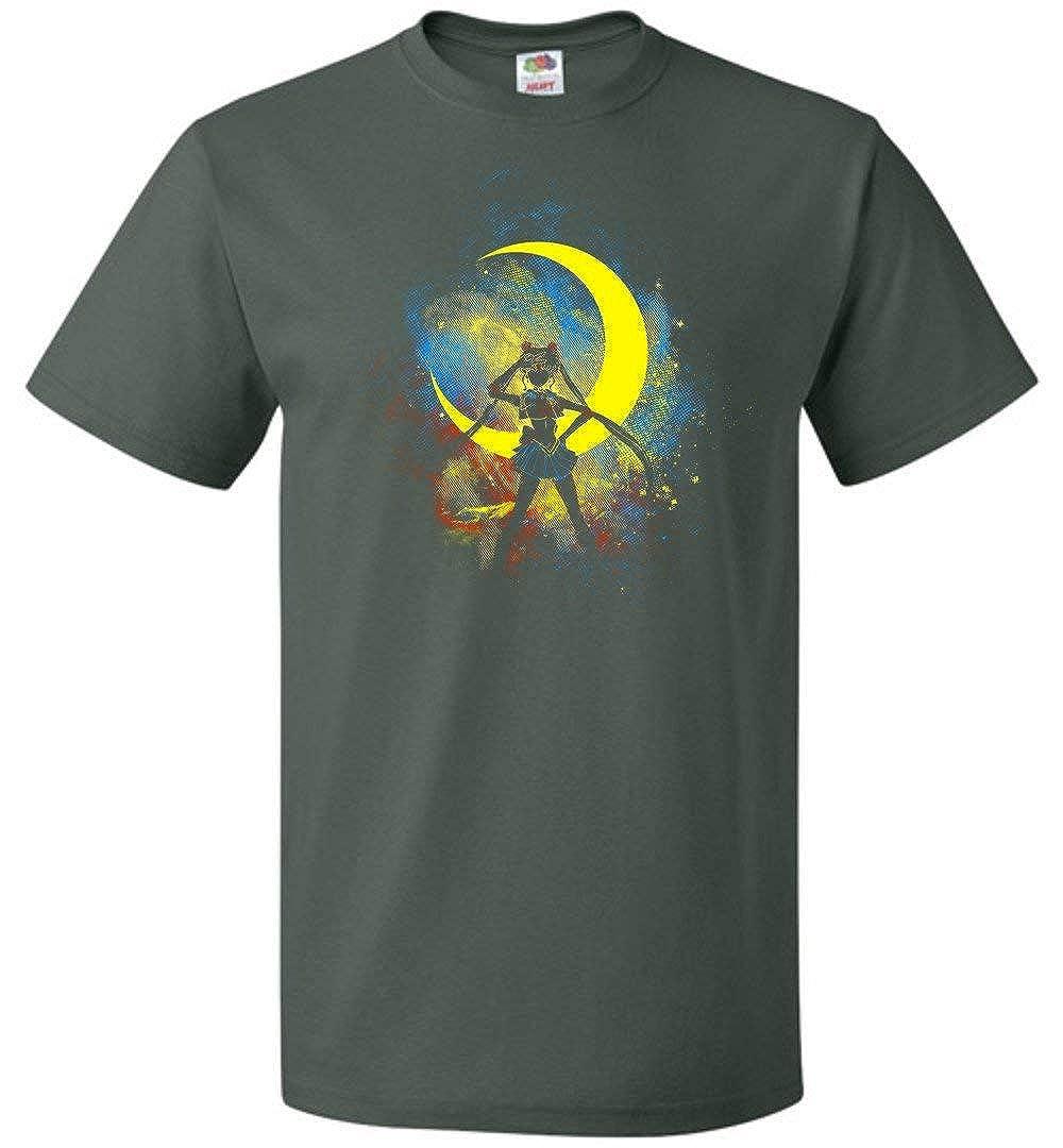 Moon Art Unisex T-shirt Adult Pop Culture Graphic Tee Nerdy Geeky Apparel