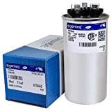 FAST SHIPPING! ORIGINAL new GE Genteq Capacitor round 35/7.5 uf MFD 370 volt 97F9830 (replaces old GE# Z97F9830), 35 + 7.5 MFD at 370 volts