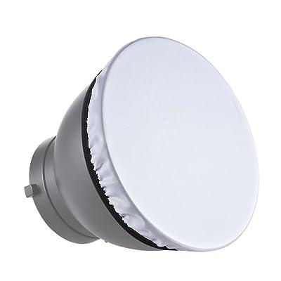 """Andoer 7 """"180Mm Luz de la Fotografía Paño Blando Blanco Difusor para Estudio Estándar Reflector Estroboscópico"""