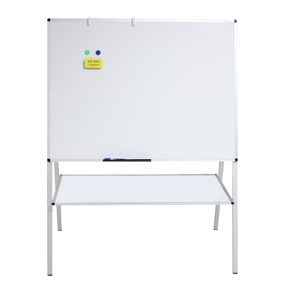 VIZ-PRO Double Sided Magnetic A-Stand Whiteboard/Drawing Board Artist Easel,48 x 36 Inches