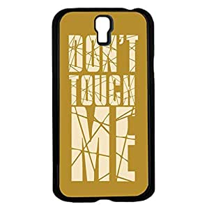 "Cream Cracked Words ""Don't Touch Me"" Hard Snap on Phone Case (Galaxy s4 IV)"