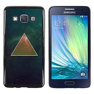 Paccase / SLIM PC / Aliminium Casa Carcasa Funda Case Cover - Deep Mathematics Universe Space - Samsung Galaxy A3 SM-A300