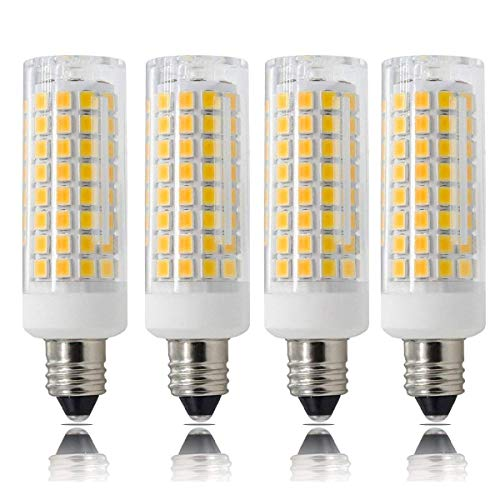 [4-Pack]E11 LED Bulbs All-New (102LEDs)7.5 Watt, 75W 100W Halogen Bulbs Replacement,850 lumens, -