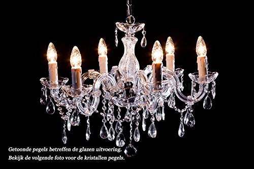 Kronleuchter Kristall 6 Flammig ~ Kronleuchter maria theresa 6 flammig chrom Ø60cm kristall: amazon