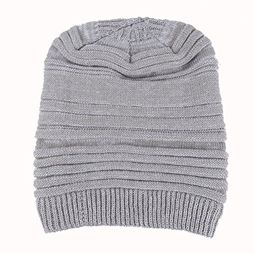 Cap Thick Gorros Women's Slouchy Knit Ski de Zhhlaixing Beanie Men's Warm Winter punto White amp;Gray Cable Hat Skull ngBqwCxZ
