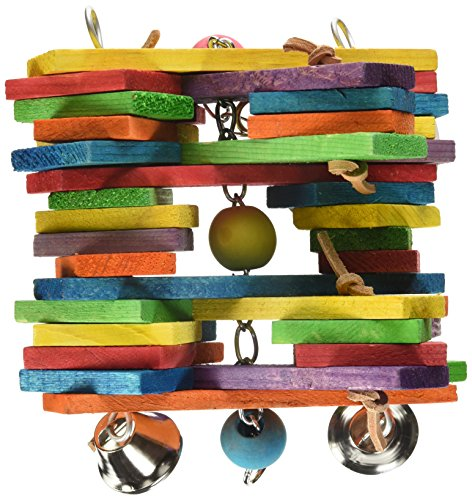 Super Bird Creations 11 by 7-Inch Woodpile Bird Toy, Large