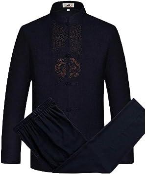 Traditionelle Chinesische Herren Kleidung Kung Fu Anzug Jacke Lange Ärmel Weich