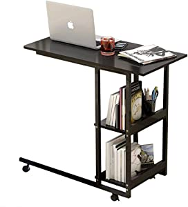 Overbed Table,Laptop Desk Medical Overbed Table Portable Computer Desk Bed Couch Sofa Side Table Hospital Bed Table Bedside Home Reading Desk Breakfast Table Industrial Side Table with Wheels