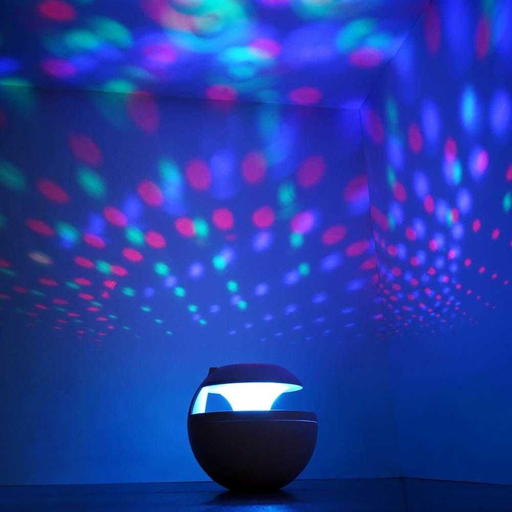 Aromaterapia Umidificatore 7 LED Colorati Auto Spegnimento Ultrasuoni USB ad Ampia Capacit/à 6-in-1 Anti-Ustione USB,Black