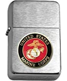 US Marine Corps Brushed Chrome Lighter