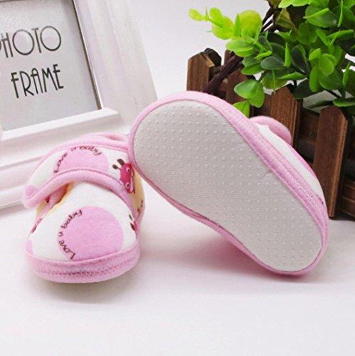 Huhu833 Kinder Mode Junge Mädchen Schuhe weiche Sohle Krippe Kleinkind Neugeborene Schuhe Rosa