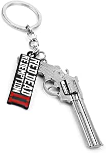 Red Dead II Redemption Keychain Decorations Cool Keyring Pendant Charms Gifts for Boy Girl Best Friends/Collections … (Red Dead Gun)