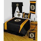 NHL Boston Bruins Hockey Team 4pc Twin Bedding Set