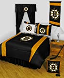 NHL Boston Bruins Comforter Set 3 Pc Queen Hockey Bedding