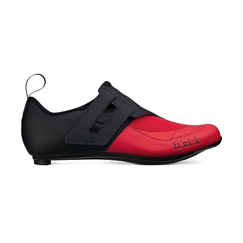 Amazon.com | Fizik Mens Transiro Powerstrap R4 Triathlon Cycling Shoes - Black/White | Cycling
