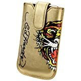 Ed Hardy Universal Case with Snap Tab (Tiger, Gold)