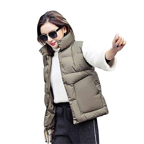 非行通り抜ける枯渇レディース カジュアル 秋冬 軽い 薄い 暖かい 袖なし ダウン 中綿ベスト ポケット付き 秋冬服 軽量 あったか 中綿ベスト アウター ジャケット