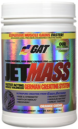 GAT Jetmass 100% Chance Of Gains with Great Taste, Orange Creme, 1.81 Pound by GAT