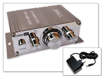 400 vatios mini-amplificador (ideal para hogares, motocicletas, motos, coches MP3