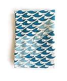 gel kitchen mats australia Flour Sack Tea Towel in Unbleached Cotton (Waves)