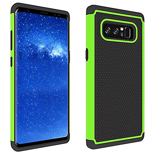 Price comparison product image Galaxy Note 8 Case, ARSUE [Scratch Resistant] Premium Heavy Duty Hybrid Dual Layer Armor Defender Protective Case Cover for Samsung Galaxy Note 8 (2017), Green