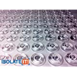"""Isolate It!: Specialty Soft Clear 1/2"""" (12.7mm) Dia x 0.20"""" (5.1mm) H Round Sound Deadening Cabinet and Furniture Bumpers - 50 Pack"""