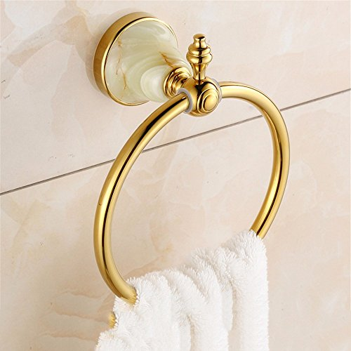LHbox Tap The Jewel of The Whole Copper Rose Gold Gold Towel Ring Towel Rack Towel Ring Ring Hand Towel Rack,818cm, Gold