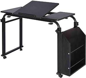 XM&LZ Large Office Desk with Shelves,Bedside Wood Writing Desk,Movable Adjustable Computer Desk Table,Modern Laptop Pc Table Workstation A 80x40cm(31x16inch)