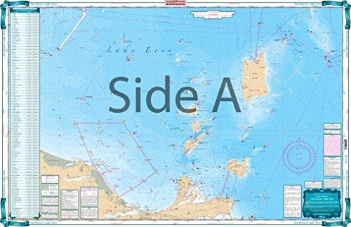 Waterproof Charts, Lake Fishing, 28F Northwest Lake Erie (Erie Chart Lake Depth)