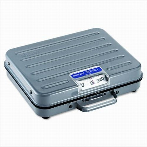 Rubbermaid Commercial Briefcase Mechanical Receiving Scale, 250 lbs. Capacity, FGP250S (Pelouze Scale)