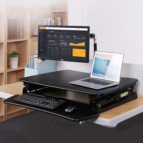 Nclon Mesa Ordenador Portatil,Atril Elevador - Plegable, Regulable, portátil y ergonómico -