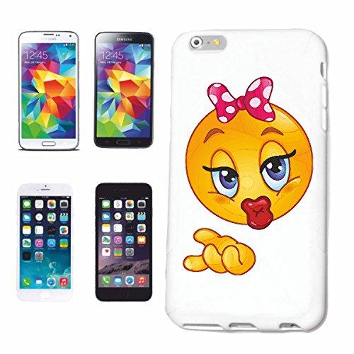 """cas de téléphone iPhone 7 """"IMAGINAIRE SMILEY LADY AVEC BOW SUR LA TÊTE """"SMILEYS SMILIES ANDROID IPHONE EMOTICONS IOS grin VISAGE EMOTICON APP"""" Hard Case Cover Téléphone Covers Smart Cover pour Apple i"""
